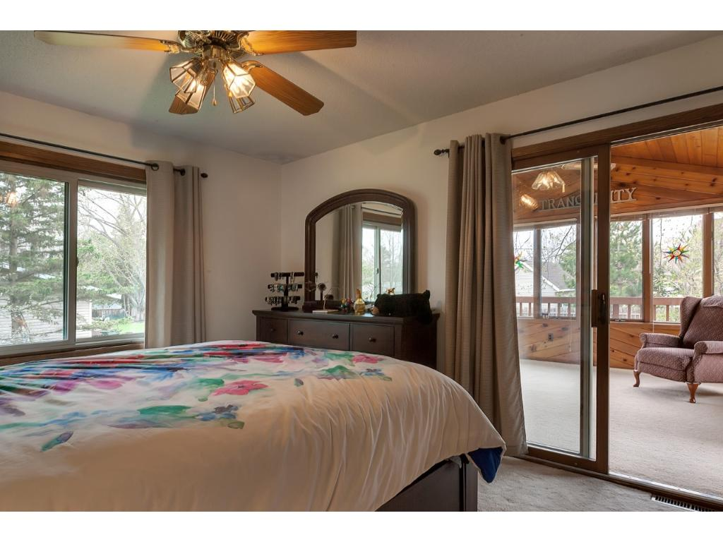 Master Bedroom walks out to Sun Room