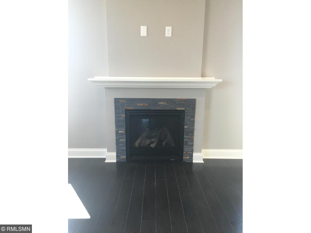 Gas fireplace in the large family room!