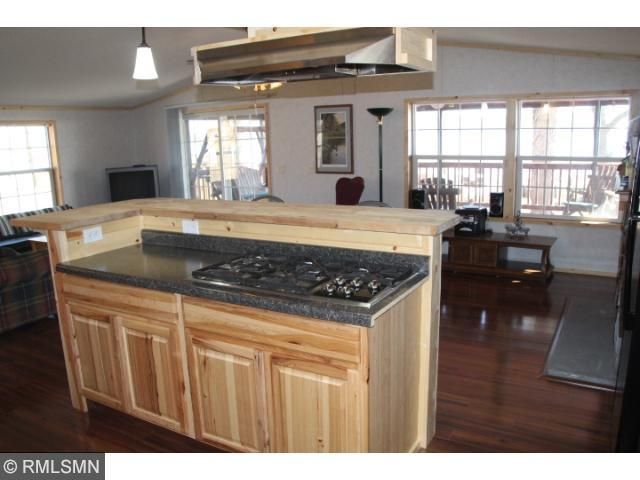 5 Burner High End Gas Stove, and an Awesome Lake View from the Kitchen!