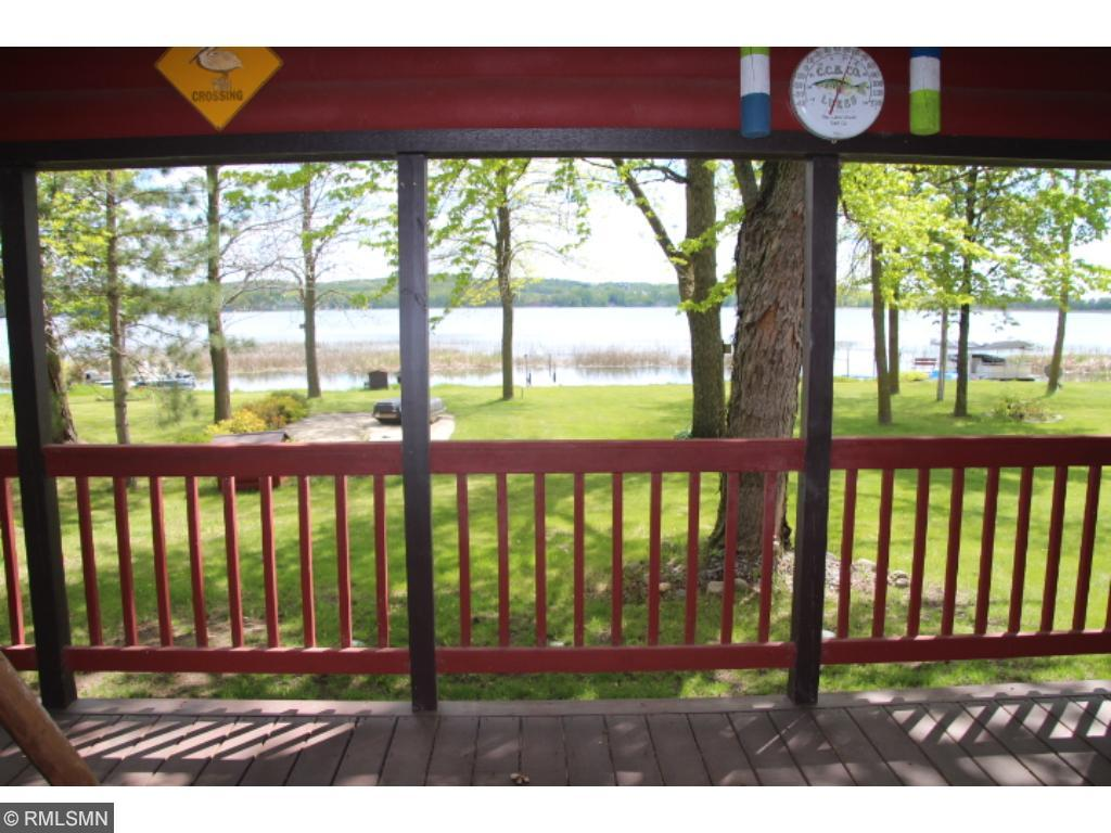 "This is the view from the covered lakeside porch.   Can you say ""beautiful""!"