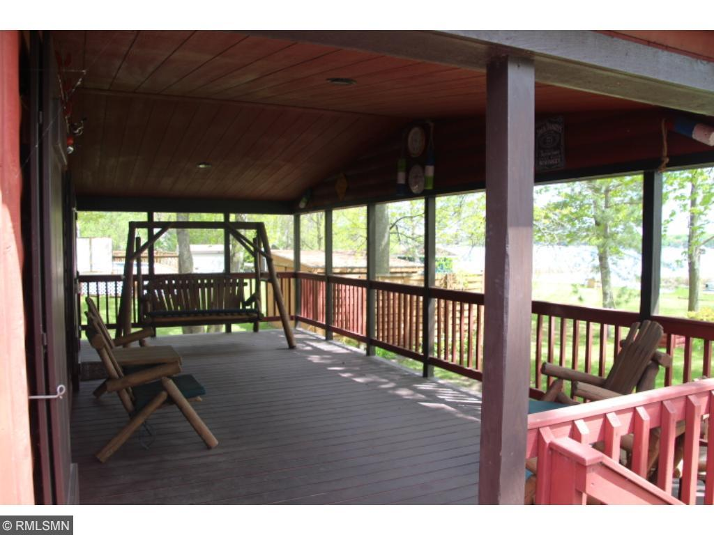 A nice view of the vaulted, covered porch.  All porch furniture is included!