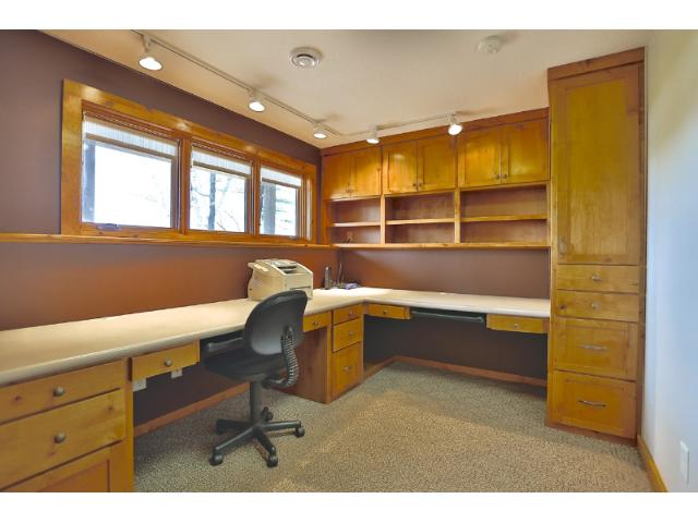 Large lower level office space.