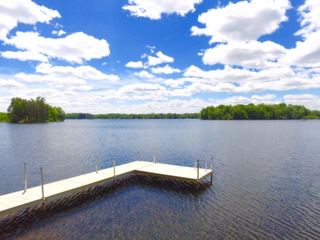 The dock is included with the sale of the property.