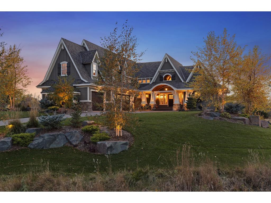 Incredible build site overlooking Arrowhead Lake. Home shown is example of an existing home by this builder.